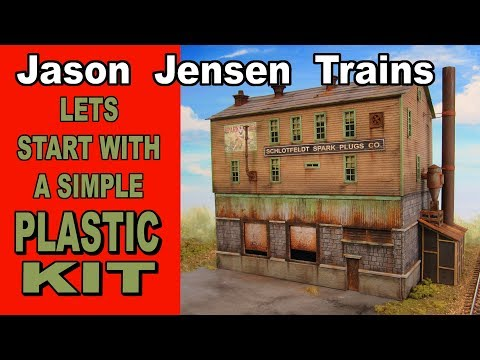 Let's start with a plastic kit for our model railroad structure.