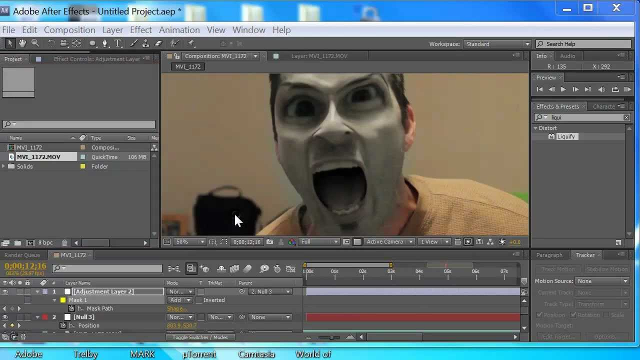 Liquifying faces: after effects morphing tutorial (no plug-ins.