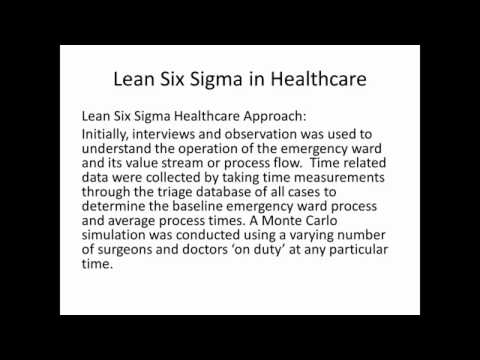 lean six sigma healthcare case studies