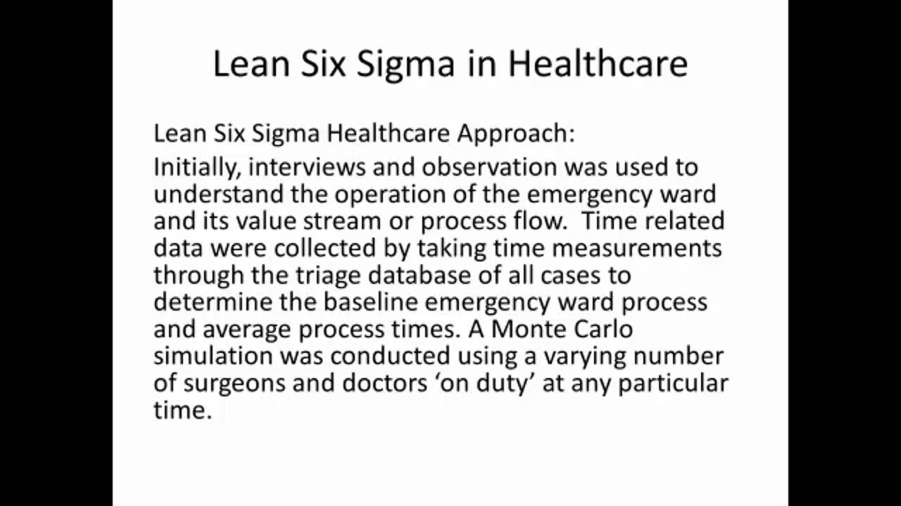 lean six sigma case studies healthcare Similar items six sigma with r statistical engineering for process improvement / by: cano, emilio l published: (2012.