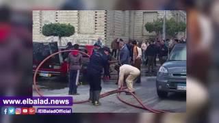 السيطرة على حريق سيارة بالدقهلية .. فيديو وصور
