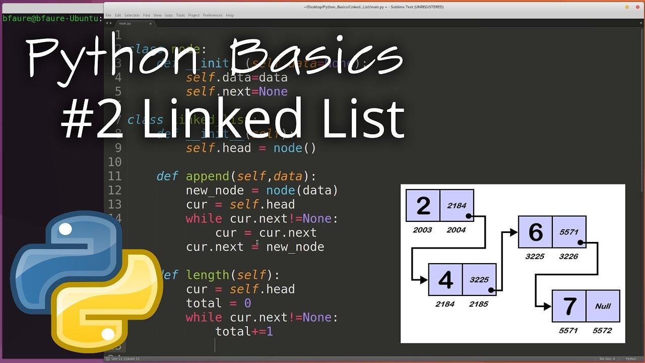 Python Data Structures : Linked List