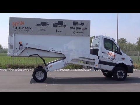 德國發明新型卡車,可根據需要升降變形,裝卸貨壹人就能搞定