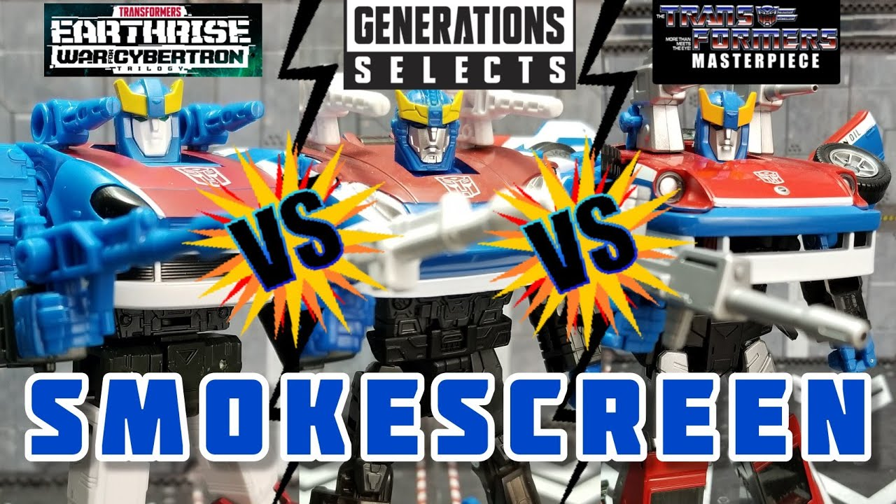 Earthrise Smokescreen VS Gen Selects Smokescreen VS MP-19 Smokescreen