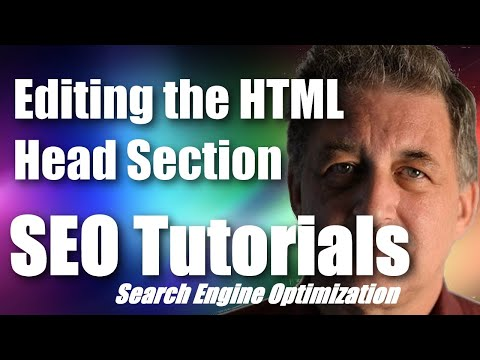 #039 SEO Tutorial For Beginners - Editing The HTML Head Section & SEO