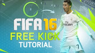 FIFA 16 FREE KICK TUTORIAL! HOW TO SCORE FREE KICKS EASY! DRIVEN FREE KICK & CURVE FREE KICKS!!