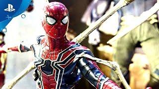 """SPIDER-MAN PS4"" | Iron Spider Suit | Combat Tutorial | Side Mission Details"