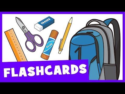 Learn School Supplies | Talking Flashcards