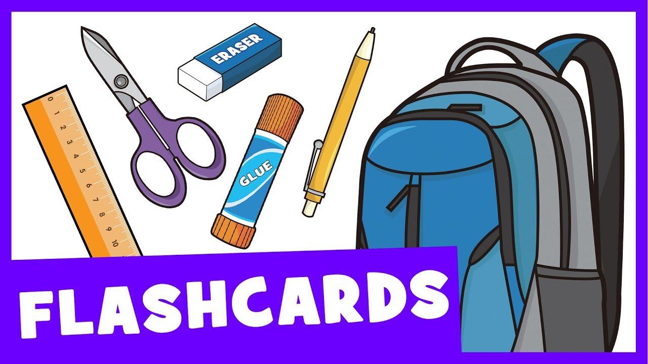 Learn School Supplies | Talking Flashcards - YouTube