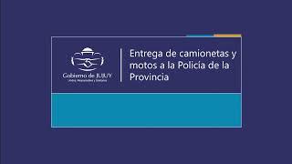 VIDEO | Gobierno entregó camionetas y motos a la Policía de la Provincia