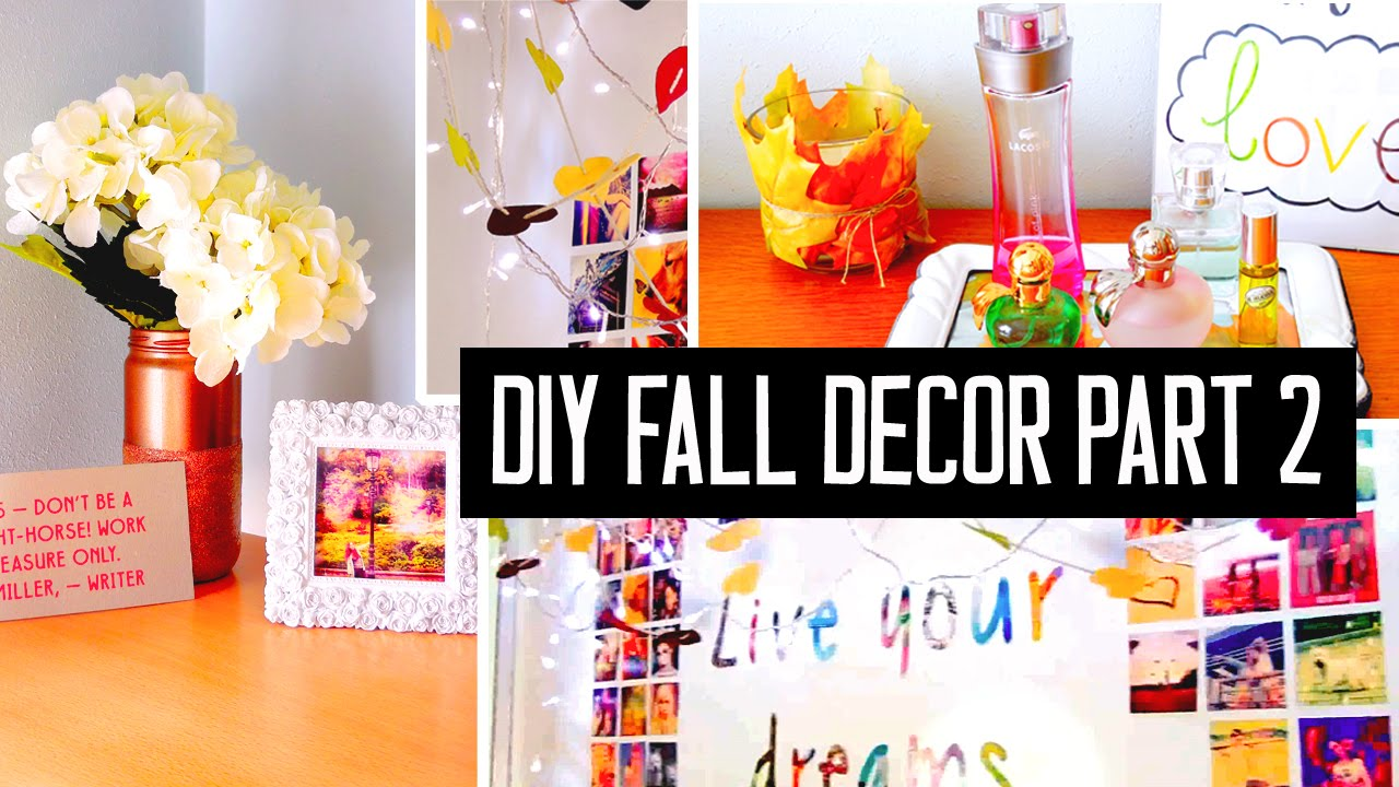 DIY Room Decor For Fall! Spice Up Your Room With Cheap