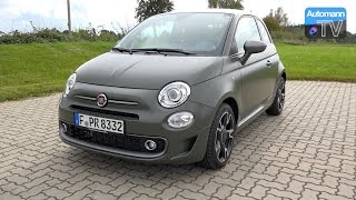 2017 FIAT 500s TwinAir (105hp) - DRIVE & SOUND (60FPS) Video