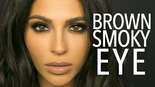 brown smokey eye makeup tutorial   teni panosian