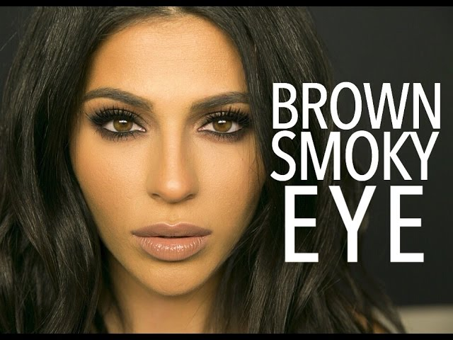 how to put makeup on big brown eyes