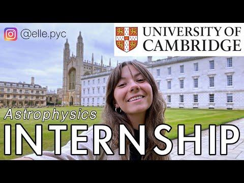 Research Internship at Cambridge (VLOG)