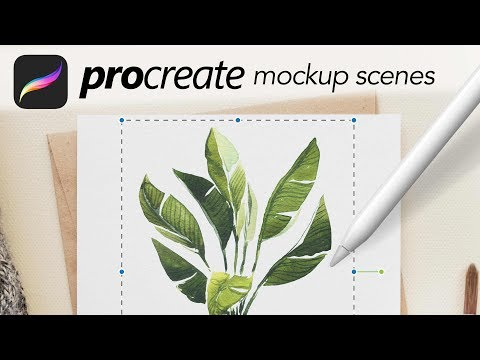 Mockups For Procreate - How To Use Them