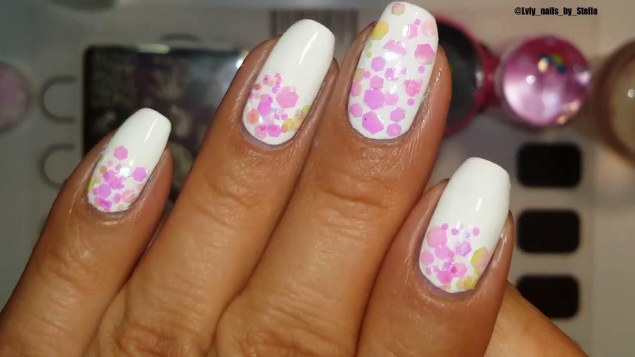 Mani Tutorial Using Nicole Diary Glitter 💅 (Amazon ) - YouTube
