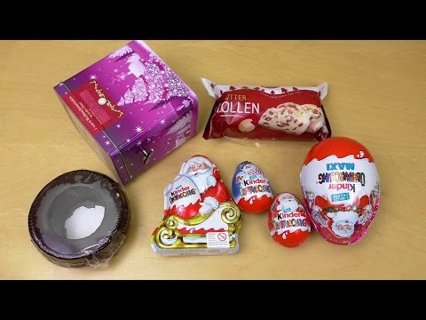 My XMAS Candy-Gifts including Surprise Eggs and Music Box