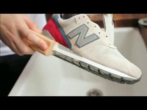 How to clean suede sneakers with sugar soap