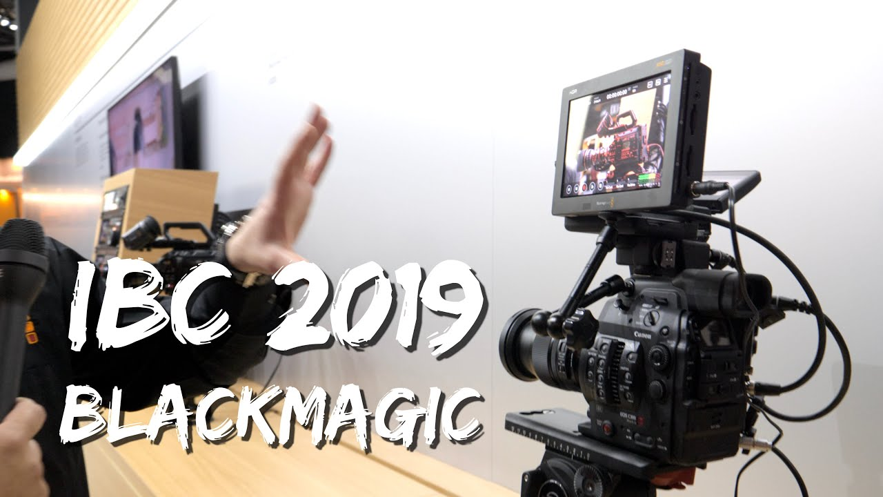 Blackmagic Video Assist 12g Hdr And Atem Mini At Ibc 2019 Youtube