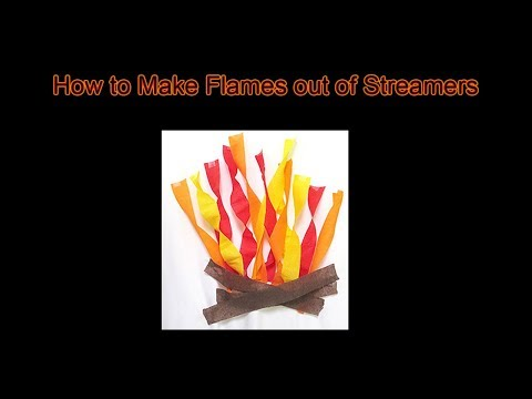 How to Make Fake Fire Flames with Streamers (5 Minutes) | Discount Party Supplies