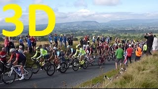 Tour of Britain 2015. Stage 2. 3D (3D1.Tripod). Nick of Pendle & Old Roman Road