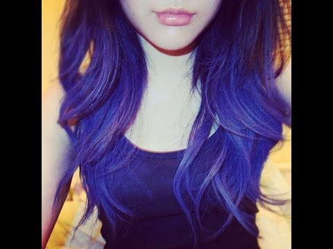 dip dye hair purple