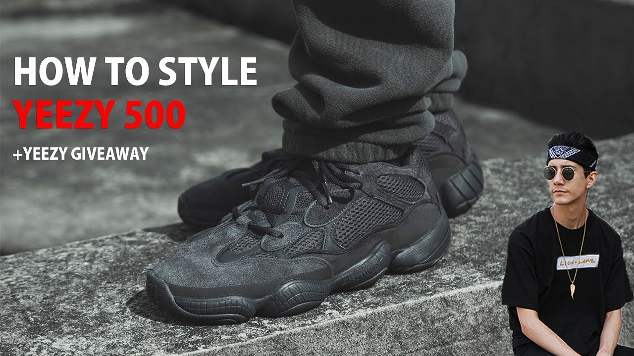 2f2cea75b6a HOW TO STYLE YEEZY 500 UTILITY BLACK