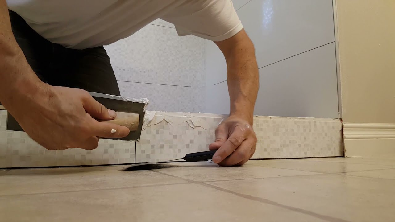 How To Grout Unfinished Tile Edge