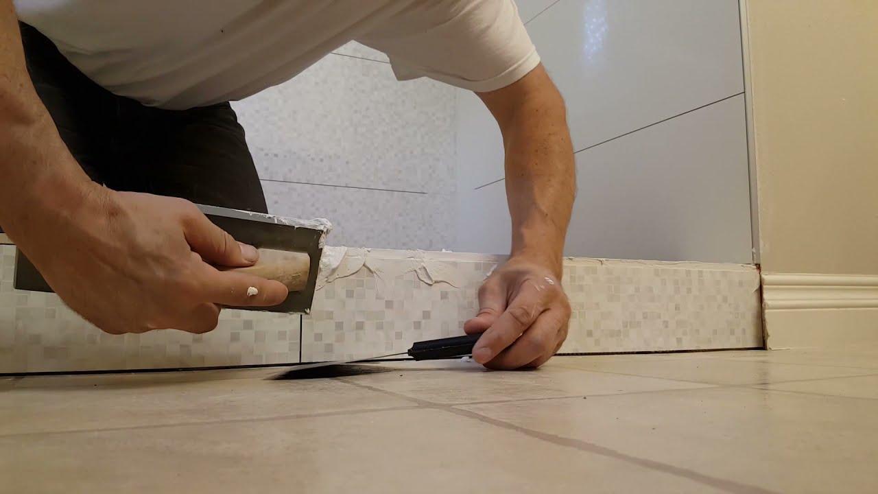 how to grout unfinished tile edge zatirka shvov plitki
