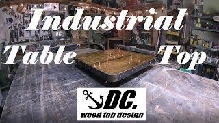 DC. Wood/Metal INDUSTRIAL PUB TABLE TOP
