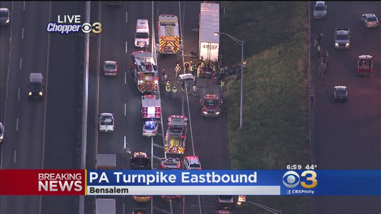 1 Person Trapped After Crash Involving Tractor-Trailer On Pa  Turnpike