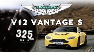 Aston Martin V12 Vantage S 0 325 Km H 573 Ps Top Speed On German Autobahn Youtube