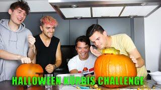 Tourette Kürbis Halloween Challenge mit Simon Will und angeschrien