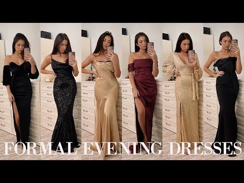 FORMAL EVENING DRESSES TRY ON ✨
