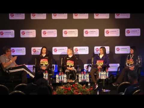 Jo Pavey & the other british ladies TALK the London MARATHON - NUFFIN' LONG ATHLETICS