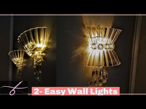 DIY Wall Lamps 💎 Light | Wall Decor - Wall Sconces - Wall Chandelier 💎 w/ Dollar Tree Materials