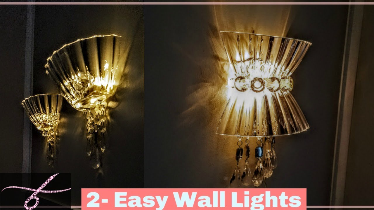 Diy Wall Lamps Light Decor Sconces Chandelier W Dollar Tree Materials
