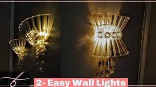Diy Wall Lamps Light | Wall Decor   Wall Sconces   Wall Chandelier W/ Dollar Tree Materials