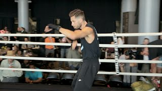 Amir Khan vs. Chris Algieri full video- COMPLETE Algieri media workout