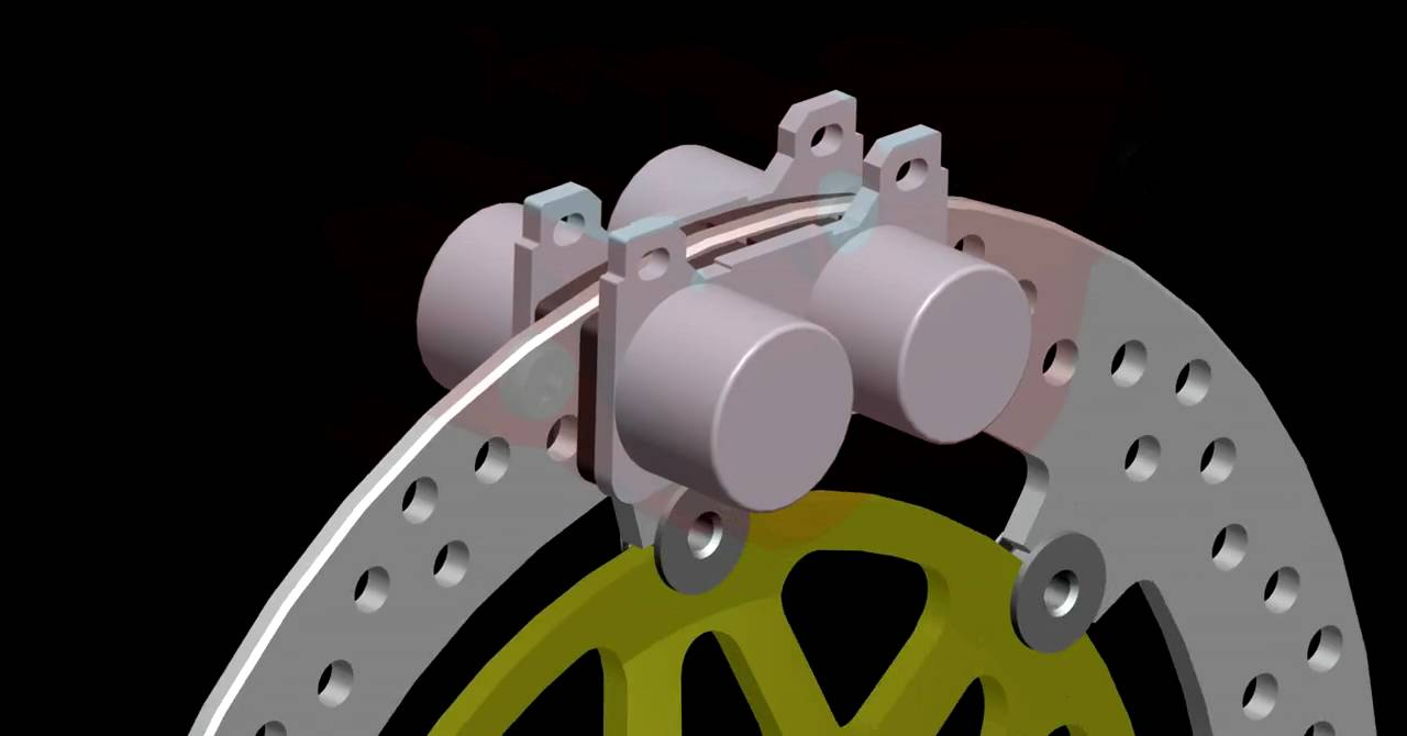 Motorcycle Brake System Cad Animation Youtube