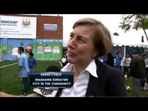 Manchester City and UAE Embassy donate new Soccer field to East Los Angeles Kids