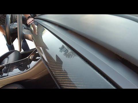 Installing The Tesla Model 3 Carbon Fiber Dash Cap (cover)