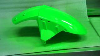 motorcycle fairing repair on abs plastic paint part 4