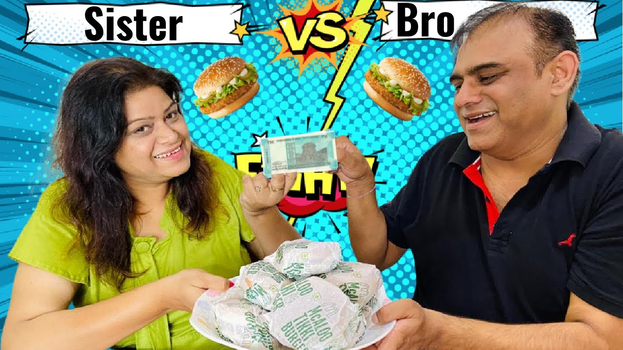Bhai Behen 👫 Ki 5000/- Waali Burger Race || TIO TV 📺 || Burger Eating Challenge ||