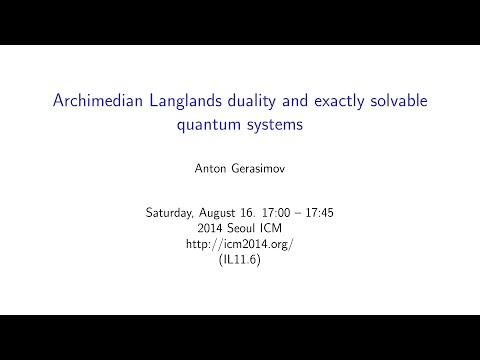 ICM2014 VideoSeries IL11.6: Anton Gerasimov On Aug16Sat