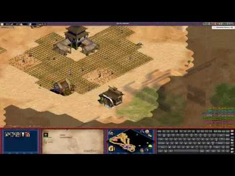 FR - Age of empires II - 4vs4 Arabia With Korean + Virtual Keyboard