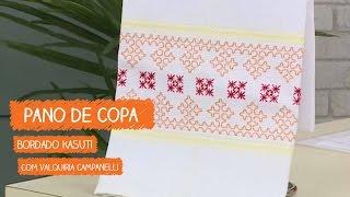 Pano de Copa Clássico Kasuti com Valquíria Campanelli