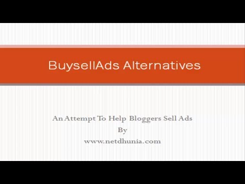 Best Buysellads Alternatives To Monetize Your Blog