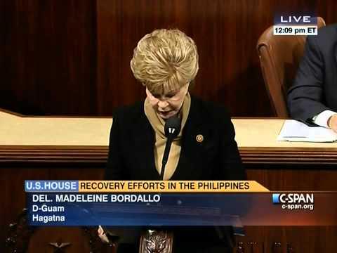 Congresswoman Madeleine Bordallo (GU) Statement on Effects of Super Typhoon Haiyan